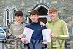 Patrick Darcy, Pierce Lyne-Roberts and Darragh Lyne from St Brendans College Killarney who were delighted to finally get the Leaving Cert started on Wednesday