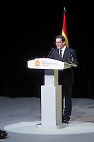 Actor Antonio Banderas delivers a speech during the ceremony to designate ambassadors of the Brand Spain. February 12, 2013. (ALTERPHOTOS/Alvaro Hernandez) /NortePhoto
