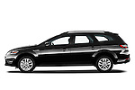 Driver side profile view of 2011 Ford Mondeo Trend Wagon Stock Photo