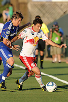 Sinisa Ubiparipovic, Chance Myers (blue)...Kansas City were defeated 3-0 by New York Red Bulls at Community America Ballpark, Kansas City, Kansas.