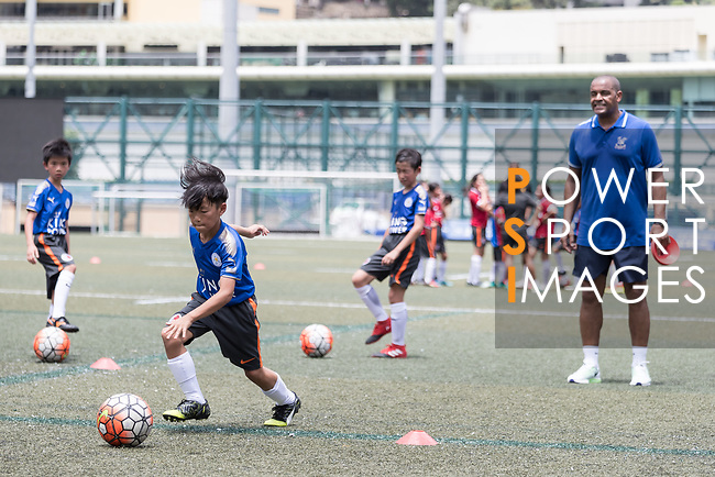 Mark Bright at a morning training session with Hong Kong children for the launch of the Premier League Asia Trophy 2017 at the Hong Kong Football Club on 01 June 2017 in Hong Kong, China Photo by Chris Wong / Power Sport Images