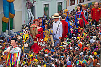 Desfile de bonecos no carnaval de rua de Olinda. Pernambuco. 2013. Foto de Rogerio Reis..