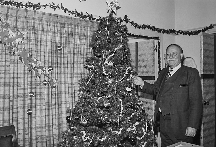 Rep. Joseph Patrick Addabbo, D-N.Y., at decorated office during Christmas. (Photo by CQ Roll Call via Getty Images)