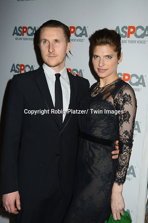 Lake Bell and fiancee Scott Campbell  attend the 16th Annual ASPCA Bergh Ball on April 11, 2013 at The Plaza Hotel in New York City.
