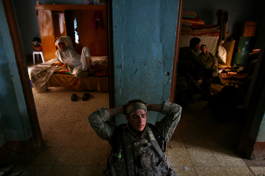 Soldiers from Alpha Co. 5-20 Infantry 2nd Infantry Division take part in a large clearing operation to drive insurgents from the Khatoon District of the Diyala provincial capital, Baqubah, on Wed. June 20, 2007.