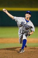 Adam Jorgenson (31) of the Tulsa Drillers delivers a pitch during a game against the Springfield Cardinals at Hammons Field on July 19, 2011 in Springfield, Missouri. Tulsa defeated Springfield 17-11. (David Welker / Four Seam Images)