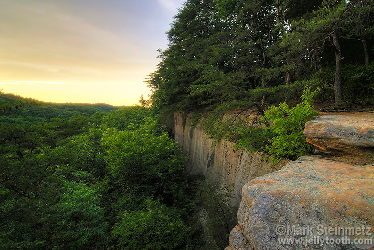 View from Airplane Rock, a sandstone outcropping in Hocking State Forest, Ohio. USA.