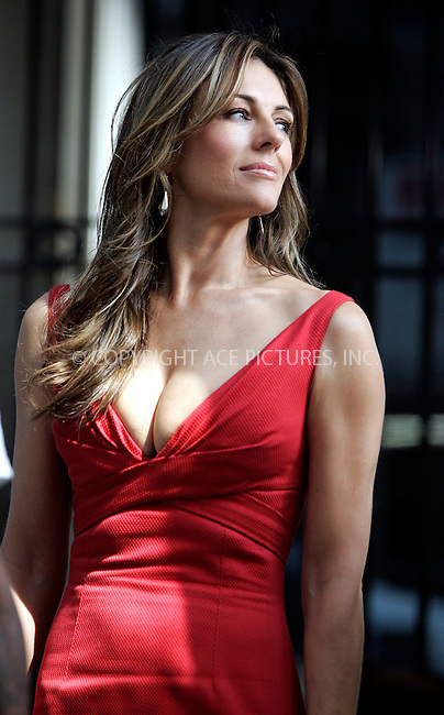 """WWW.ACEPIXS.COM . . . . .....July 13 2011, New York City....Actress Elizabeth Hurley on the Manhattan set of the TV show """"Gossip Girl"""" on July 13 2011 in New York City  ....Please byline: CURTIS MEANS - ACE PICTURES.... *** ***..Ace Pictures, Inc:  ..Philip Vaughan (212) 243-8787 or (646) 679 0430..e-mail: info@acepixs.com..web: http://www.acepixs.com"""