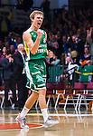 S&ouml;dert&auml;lje 2014-04-15 Basket SM-Semifinal 5 S&ouml;dert&auml;lje Kings - Uppsala Basket :  <br /> S&ouml;dert&auml;lje Kings Tobias Borg jublar efter att S&ouml;dert&auml;lje Kings gjort po&auml;ng<br /> (Foto: Kenta J&ouml;nsson) Nyckelord:  S&ouml;dert&auml;lje Kings SBBK Uppsala Basket SM Semifinal Semi T&auml;ljehallen jubel gl&auml;dje lycka glad happy