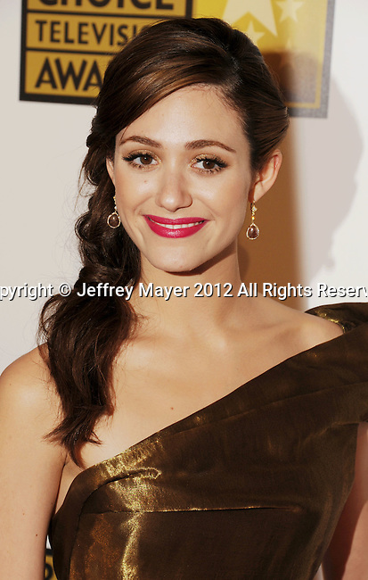 BEVERLY HILLS, CA - JUNE 18: Emmy Rossum arrives at The Critics' Choice Television Awards at The Beverly Hilton Hotel on June 18, 2012 in Beverly Hills, California.