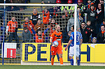 St Johnstone v Dundee United...11.02.12.. SPL.Johnny Russell all smiles after Callum Davidson's own goal.Picture by Graeme Hart..Copyright Perthshire Picture Agency.Tel: 01738 623350  Mobile: 07990 594431