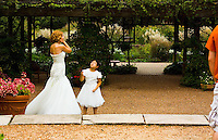 Tender Moment: Flower Girl Gives Bride A Gift