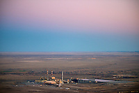 Comanche coal-fired power plant at dusk.  Oct 2012