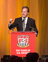 Anson Dorrance. US Soccer held their Centennial Gala at the National Building Museum in Washington DC.