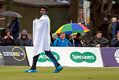Issued by Cricket Scotland - Scotland V Sri Lanka 2nd One Day International at Grange CC, Edinburgh - umbrellas and towels came out after 27 overs of the Scotland innings to halt play  - picture by Donald MacLeod - 21.05.19 - 07702 319 738 - clanmacleod@btinternet.com - www.donald-macleod.com