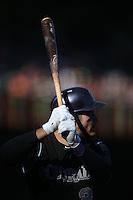 SAN FRANCISCO, CA - OCTOBER 3:  Nolan Arenado #28 of the Colorado Rockies bats against the San Francisco Giants during the game at AT&T Park on Saturday, October 3, 2015 in San Francisco, California. Photo by Brad Mangin