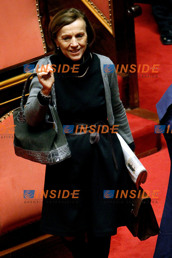 IL MINISTRO DEL WELFARE ELSA FORNERO.Roma 22/12/2011 Senato. Voto di Fiducia sulla Manovra Economica.Votation at Senate about austerity plan. .Photo Samantha Zucchi Insidefoto