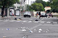 Estudiantes de la UASD se enfrentan a la polic&iacute;a a  pedradas y bombazos en rechazo al aplazamiento del juicio a supuestos asesinos del coronel Suarez de la PN <br /> Fotos: Carmen Su&aacute;rez/acento.com.do<br /> Fecha: 07/02/2014
