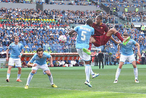 03.04.2016. Stadium Olimpico, Rome, Italy.  Serie A football league. Derby Match SS Lazio versus AS Roma. Keita with a close chance on goal