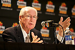 010213--Kansas State Head Coach Bill Snyder  answers questions from reporters during a press conference at the Camelback Inn in Scottsdale, Arizona. .Photo by Jaime Valdez