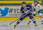 14 February 2015: University of New Hampshire Wildcat Forward Jonna Curtis, a Sophomore from Elk River, MN, in second period action against the University of Vermont Catamounts at Gutterson Fieldhouse in Burlington, Vermont. The Ladies played to a 3-3 tie in their final meeting of the NCAA Hockey East season. Mandatory Credit: Ed Wolfstein Photo *** RAW (NEF) Image File Available ***