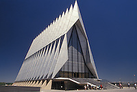 chapel, air force, Colorado Springs, CO, Colorado, The Chapel at the U.S. Air Force Academy in Colorado Springs.