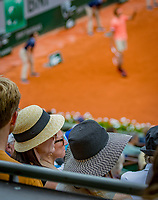 Paris, France, 01 June, 2018, Tennis, French Open, Roland Garros, Womans Doubles : Ambiance<br /> Photo: Henk Koster/tennisimages.com