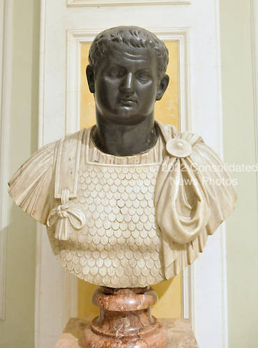St. Petersburg, Russia - August 15, 2009 -- Basalt bust of the Roman Emperor Titus Flavius, who ruled from 79 - 81 A.D. on display in the Hermitage in St. Petersburg, Russia on Saturday, August 15, 2009.  The Hermitage is known as one of the greatest museums in the world. It consists the Winter Palace - the residence of the Russian Tsars and 4 other historical buildings.  The museum's collection includes over 3 million pieces of art with dates ranging from high antiquity to the present day. .Credit: Ron Sachs / CNP