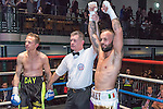 Ben Day VS Michael Devine 10x3 Lightweight Southern Area Title Fight During Goodwin Boxing: Christmas Carnage. Photo by: Simon Downing.<br /> <br /> Saturday 3rd December 2016 - York Hall, Bethnal Green, London, United Kingdom.
