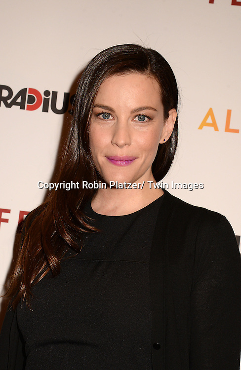 """Liv Tyler attends the New York Premiere of """"FED UP"""" on May 6, 2014 at The Museum of Modern Art in New York City."""