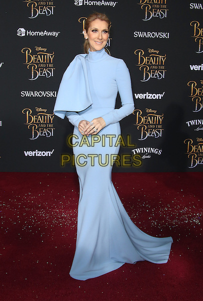 02 March 2017 - Hollywood, California - Celine Dion. Disney's &quot;Beauty and the Beast' World Premiere held at El Capitan Theatre.   <br /> CAP/ADM/FS<br /> &copy;FS/ADM/Capital Pictures