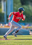 4 September 2016: Lowell Spinners outfielder Matt McLean in action against the Vermont Lake Monsters at Centennial Field in Burlington, Vermont. The Spinners defeated the Lake Monsters 8-3 in NY Penn League action. Mandatory Credit: Ed Wolfstein Photo *** RAW (NEF) Image File Available ***