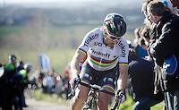 Peter Sagan (SVK/Tinkoff) turning off the Paterberg<br /> <br /> E3 - Harelbeke 2016