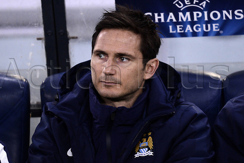 10.12.2014. Rome, Italy. UEFA Champions League Group E match between AS Roma 0-2 Manchester City at Stadio Olimpico in Rome Frank Lampard starts on the bench