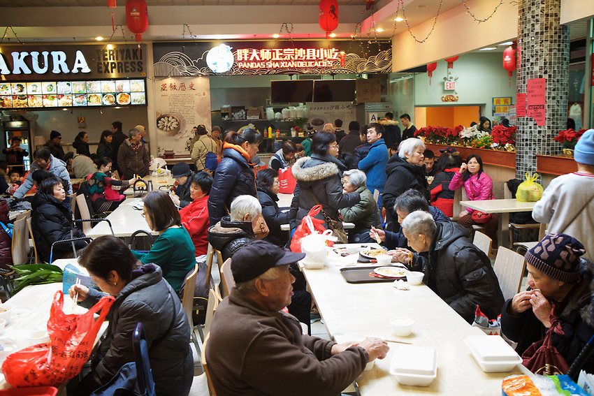 BROOKLYN, NY - JANUARY 15, 2016:  Fei Long Market, which combines a shopping center, food court and a large supermarket under one roof. <br /> LOCATION: 6301 8th Avenue between 63rd and 64th Streets.<br /> CREDIT: Clay Williams for the New York Times.<br /> <br /> &copy; Clay Williams / claywilliamsphoto.com