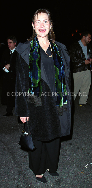 "CHERRY JONES arrives at the Tavern on the Green in New York for the party to celebrate the opening of Arthur Miller's play ""The Crucible"" starring Liam Neeson and Laura Linney. March 7, 2002. © 2002 by Alecsey Boldeskul/NY Photo Press.   ..*PAY-PER-USE*      ....NY Photo Press:  ..phone (646) 267-6913;   ..e-mail: info@nyphotopress.com"