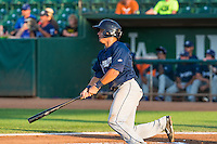 Charles Galiano (28) of the Helena Brewers at bat against the Ogden Raptors in Pioneer League action at Lindquist Field on August 17, 2015 in Ogden, Utah.  Ogden defeated Helena 7-2.  (Stephen Smith/Four Seam Images)