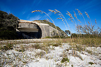 Sea Oats now frame Battery Langdon, once the home of Fort Pickens' most powerful guns capable of throwing a shell 17 miles.<br /> <br /> <br /> COLIN HACKLEY PHOTO