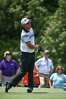 Hideki Matsuyama (JPN) watches his tee shot on 9 during round 3 of the WGC FedEx St. Jude Invitational, TPC Southwind, Memphis, Tennessee, USA. 7/27/2019.<br /> Picture Ken Murray / Golffile.ie<br /> <br /> All photo usage must carry mandatory copyright credit (© Golffile | Ken Murray)