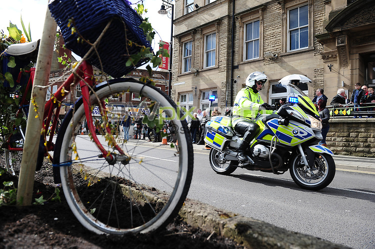 Picture by Alex Whitehead/SWpix.com - 04/04/2015 - British Cycling - Spring Cup Elite Series - Chorley Grand Prix, Chorley, England - NEG police escort