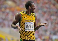 Usain Bolt  200M ( JAM ) <br /> Mosca 17/8/2013 <br /> Campionati Mondiali Atletica Leggera <br /> Usain Bolt Jamaica vince la finale dei 200 metri <br /> foto Insidefoto
