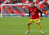 Fleetwood Town's Ross Wallace during the pre-match warm-up <br /> <br /> Photographer David Shipman/CameraSport<br /> <br /> The EFL Sky Bet League One - Doncaster Rovers v Fleetwood Town - Saturday 6th October 2018 - Keepmoat Stadium - Doncaster<br /> <br /> World Copyright © 2018 CameraSport. All rights reserved. 43 Linden Ave. Countesthorpe. Leicester. England. LE8 5PG - Tel: +44 (0) 116 277 4147 - admin@camerasport.com - www.camerasport.com