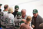 Alumni from the 1960s hockey team reunite on the ice after the first period of the OU vs. Kent State hockey game in Bird Arena on September 30, 2016.