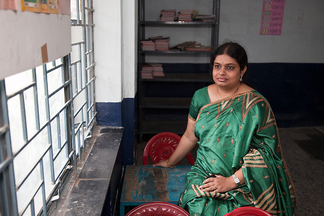 30 November 2011 :  Usha Paliath part of the senior management team of the new Rumi Education education model run by the Richard Chandler corporation in Hyderabad, India. Pictures by Graham Crouch