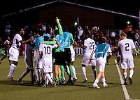 US Under 20 Men's National Team celebrates. US Under 20 Men's National Team played to a scoreless draw vs Trinidad & Tobago, advancing after winning 4-3 on penalty kicks at the Marvin Lee Stadium in Macoya, Trinidad on March 13th, 2009 during the 2009 CONCACAF U-20 Championship.