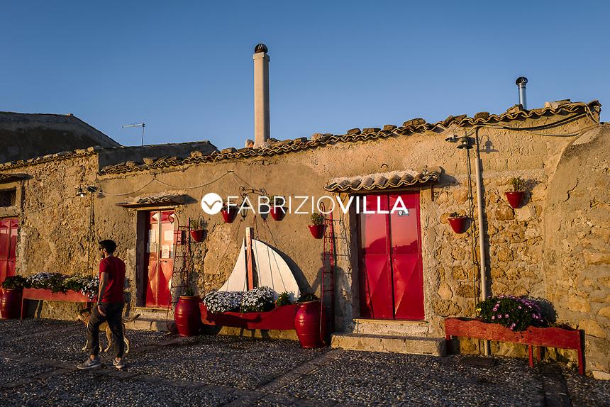 Marzamemi, (SR), Italia. Borgo marinaro di Sicilia