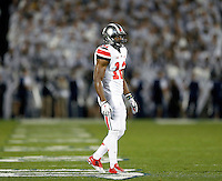 Ohio State Buckeyes cornerback Doran Grant (12) during the 1st quarter of the NCAA Division I football game at Beaver Stadium in University Park, PA on October 25, 2014. (Columbus Dispatch photo by Jonathan Quilter)