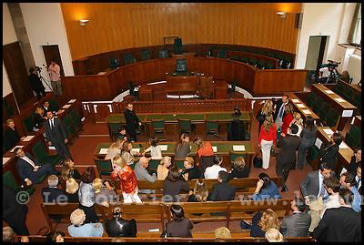 Genève, le 29.09.2006.Grande salle du Palais de justice à Genève..© J.-P. Di Silvestro / Le Courrier