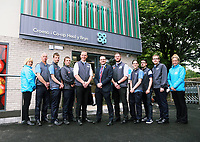 Manager Aled Jones (5th from LEFT) with area manager Chris Ellis (6th from LEFT) with members of staff