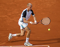 Nikolay Davydenko (RUS) (10) against Fernando Verdasco (ESP) (8).in the fourth round of the Men's Singles. Davydenko beat Verdasco 6-2 6-2 6-4..Tennis - French Open - Day 8 - Sun 31st May 2009 - Roland Garros - Paris - France..Frey Images, Barry House, 20-22 Worple Road, London, SW19 4DH.Tel - +44 20 8947 0100.Cell - +44 7843 383 012